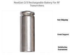 RECHARGEABLE 2/3 AAA BATTERY FOR RF TRANSMITTER Works through Walls! Impressive!