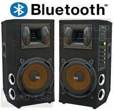 "😍 COPPIA CASSE AMPLIFICATE DJ 600W 8"" 21 cm karaoke BLUETOOTH + USB DIFFUSORI"