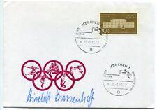 Liselott Linsenhoff - orig. Autogramm, Ersttagsbrief Olympia 1972, FDC