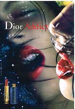 Publicité Advertising 2001 Cosmetique maquillage Dior Addict