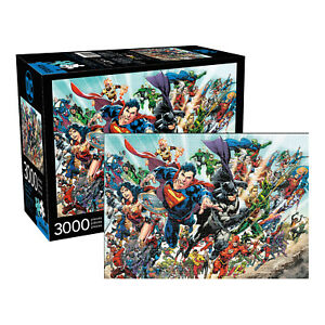 MARVEL DC 3000pc jigsaw puzzle Comics Cast Superman Batman Movie