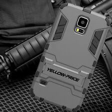 Samsung Galaxy S5 - Hybrid Kickstand Impact Armor Hard + Soft Rubber Case Cover