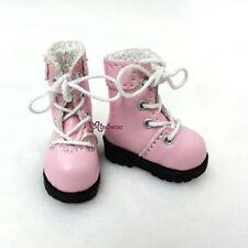 "16cm Lati Yellow Basic Bjd 12"" Blythe Pullip Doll Shoes High Hill Boots PINK"