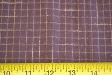By 1/2 Yd Brown Plaid Brushed Cotton, Moda/Kansas Troubles Classic/12702 33 B370