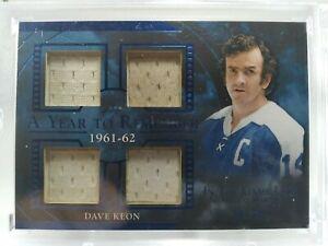 Dave Keon 2020-21 Leaf ITG Used Quad Game Used Patch #24/35 NHL HOF Maple Leafs