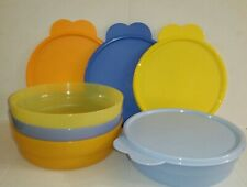Tupperware 4pc Microwave Cereal Salad,Leftovers Bowlsw/Air & Liquid Tight Seals!