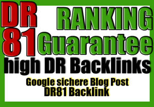 Backlink DR 81 Blog Gast Post Artikel Seo Linkaufbau Dofollow High DR Backlink K
