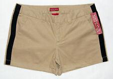 MERONA Tuxedo Shorts Khaki Tan Black Womens Size 8 NWT
