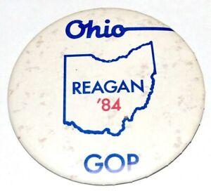 1984 RONALD REAGAN OHIO GOP campaign pin pinback button political presidential