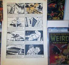 Black Cat Mystery 49 ART PAGE Original BOB POWELL 1954 Dreams Nightmares PreCode Comic Art