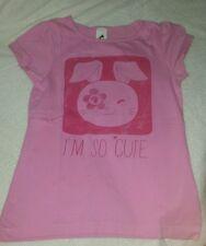 Mädchen T-Shirt rosa mit Motiv Gr. 122