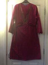Full Length V Neck Tunic Dresses Plus Size for Women