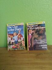 LOT OF 2 VTG 1990 HARDCOVER NANCY DREW KIDS MYSTERY STORIES # 6, 7 BOOKS