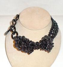 Burberry Chunky Statement/Runway Choker Necklace Chain & Knots Plain & Metallic