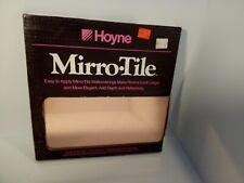 "Vintage HOYNE MIRRO-TILE - 6 Plate Glass  Mirror Tiles (Copper Color) 12"" x 12"""