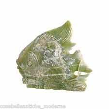 Scultura Pesce in Onice Pachistano Fish Onyx Green Sculpture CLASSIC HOME DESIGN