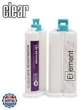 CLEAR VPS PVS Bite Registration Material REGULAR SET 2 X 50ml Cartridges Dental