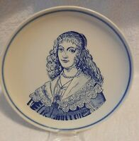 VINTAGE DELFT BLAUW ROYAL G WALL PLATE 16.5CM IN DIAMETER HAND PAINTED HOLLAND