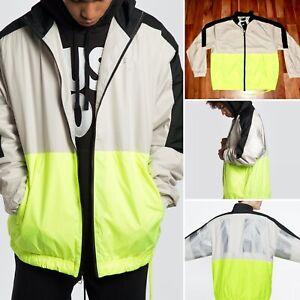 NWT Nike Sportswear NSW Windrunner Woven Jacket Volt Zip Pockets CQ0247 011 M