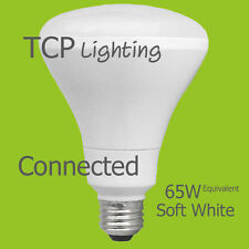 6 Light Bulbs TCP Connected 65W Equivalent Soft White (2700K) BR30 Smart LED