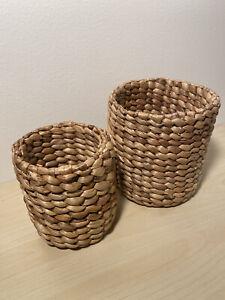 2 Sets Mini Hyacinth wicker basket