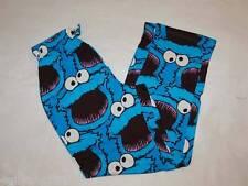 Mens Pajama Pants COOKIE MONSTER Sesame Street SLEEP LOUNGE Blue Purple S 28-30