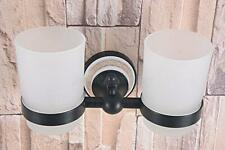Oil Rubbed Bronze Cup Tumbler Holder Wall Mounted Bathroom Toothbrush Cup Holder