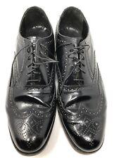 Florsheim Black Leather Wingtip Dress Shoes Men's US 10