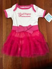 Las Vegas Baby Infant White & Pink Dress By Gcn Girls Size 12-18 Months ~ Nwt