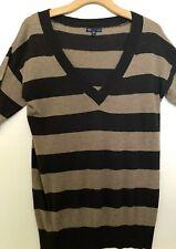 Gap Brown Striped Sweater, Medium, Casual, Cotton 60% Rayon 40%