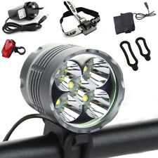 5x CREE XML T6 LED Bicycle Bike Front Light 7200LM Rechargeable Headlamp Torch
