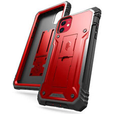 Apple iPhone 11 Case Poetic Shockproof Cover with Screen Protector Metallic Red