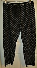 LOGO Calvin Klein Sleepwear Women sz L Black white pajama sleep lounge pants