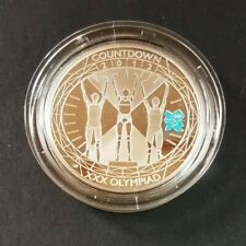 Countdown to London 2012 Olympic £5 Silver proof Coin Athletes 2012 Capsule