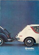 American Motors AMC Gremlin 1970 USA Market Sales Brochure
