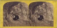 Suisse Tunnel Testa Nero Martigny Foto Inghilterra - Vintage Albumina Ca 1865