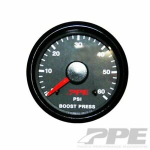 PPE TURBO BOOST PRESSURE GAUGE  (0-60 Psi) Chevy Ford Dodge Diesel Truck