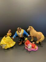 Disney Store Beauty and the Beast PVC Figures Cake Toppers 4 Figure Set EUC