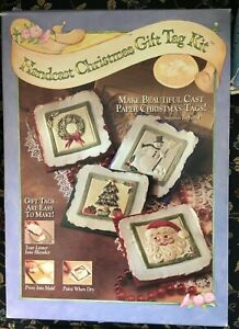 1995 Handcast Christmas Gift Tag Kit~Brown Bag Paper Art~Molds and Supplies