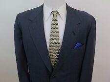 Oxxford Clothes Onwentsia Wool Blue Checks Blazer Suit Jacket Sport Coat 46/48 L
