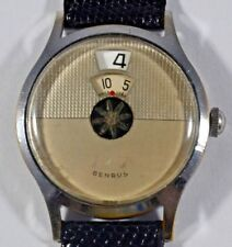 Vintage 1950s Benrus Dial-O-Rama Direct Read Jump Hour Wristwatch - Serviced