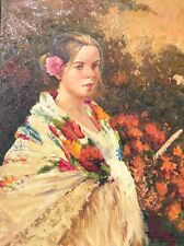 Original Spanish Oil Painting by Jose Miguel Roman Frances (Framed)