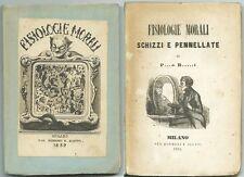 FISIOLOGIE MORALI_SCHIZZI E PENNELLATE di P...O B...I_Ed. Borroni e Scotti 1852*