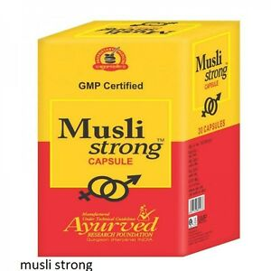 Ayurvedic Musli Strong Male Stamina  for Men 60 capsules Enhancer Performer Pill