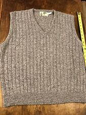 London Fog Sweater Vest Vintage Mens Large Great Condition Blue