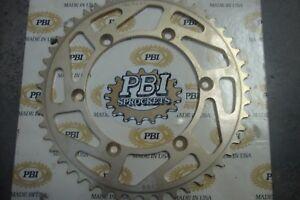 PBI - 6155-49 - Aluminum Rear Sprocket, 49T Suzuki 520 Chain Back