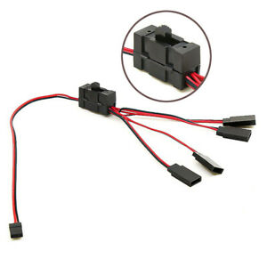 4-way LED Light On/off Controller Switch Y Cable for 1/10 TRX-4 RC Crawler Set