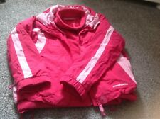 mountain warehouse girls pink hooded waterproof coat with inner removable fleece