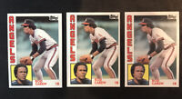1984 Topps #600 Rod Carew California Angels HOF ~ Lot of 3 ~ Free Shipping
