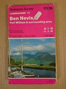 Landranger 41 Map Ben Nevis Fort William O S Ordnance Survey 1991